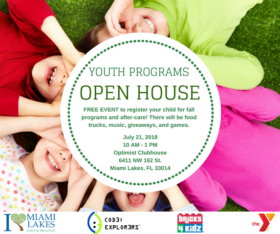 youth programs open house Flyer website